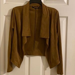 Faux suede light weight jacket